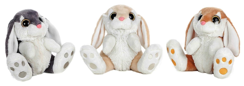 Barrado - Conejo de Peluche sentado 29cm Calidad super soft - Color Gris: Amazon.es: Juguetes y juegos