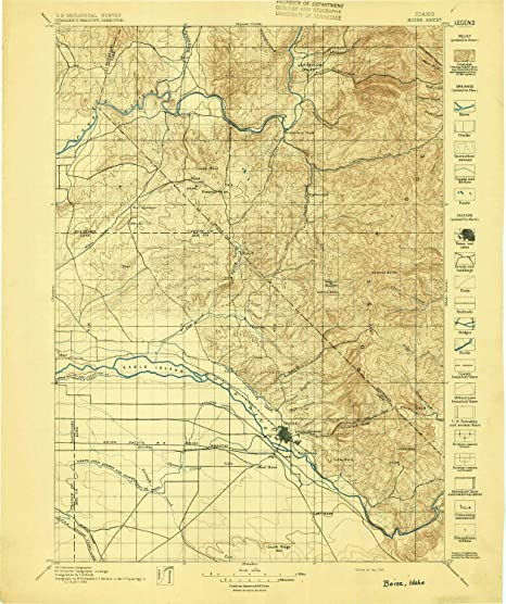 Amazon.com: YellowMaps Boise ID topo map, 1:125000 Scale, 30 X 30 ...
