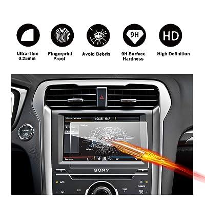 Protector de pantalla de vidrio templado de 8 pulgadas para el sistema de navegación de (2014 - 2017) Ford Mondeo V (SYNC 2/3), Protector transparente de película invisible Protector, Protector de pantalla trans