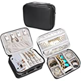 Teamoy Travel Jewelry Organizer Case, Storage Bag Holder for Necklace, Earrings, Rings, Watch and More, High Capacity and Compact