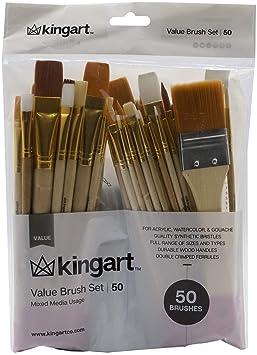 Pc Mixed Media Value Brush Set KINGART 25