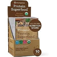 Amazing Grass Protein Superfood: Vegan Protein Powder, All in One Nutrition Shake, Pure Vanilla, 10 Protein Powder…