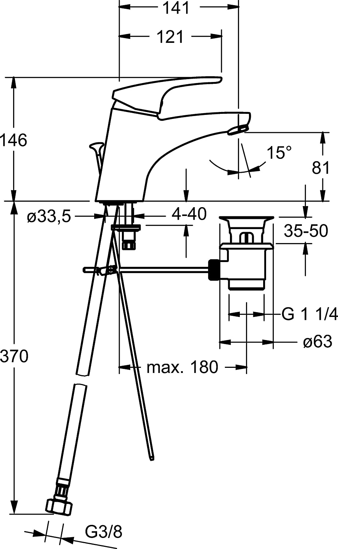 Hansa 1092283 Waschtisch Armatur Hansamix Amazon De Baumarkt