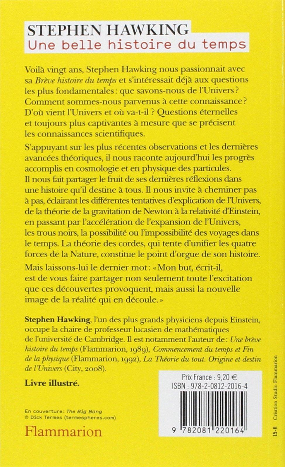 UNE BELLE HISTOIRE DU TEMPS PDF