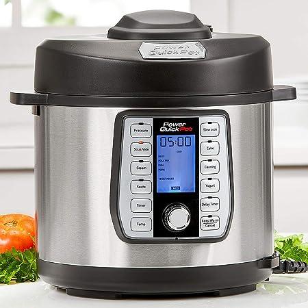 Power Quick Pot 6 QUART 37 in1 Multi- Use Programmable Pressure Cooker, Slow Cooker, Rice Cooker, Yogurt Maker, Cake Maker, Egg Cooker, Baking, Saut Sear, Steamer, Hot Pot, Sous Vide and Warmer
