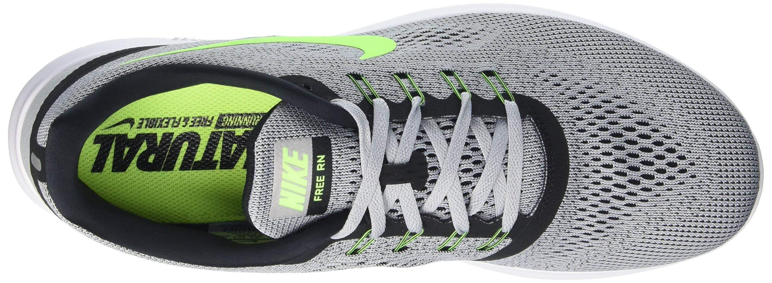Nike Mens Free Rn Pure Platinum/Elctrc Grn/Anthracite Running Shoe 8 Men US by Nike (Image #6)