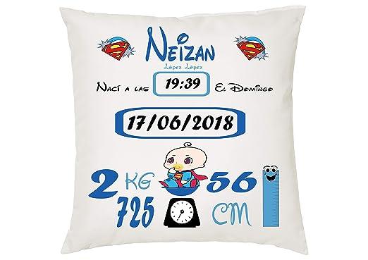 MQP Cojin Personalizado natalicio Superman: Amazon.es: Hogar