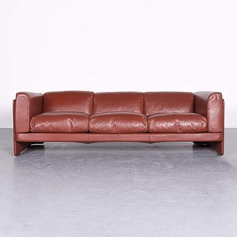 Poltrona Frau Le Chapanelle Designer Leder Sofa Orange by ...