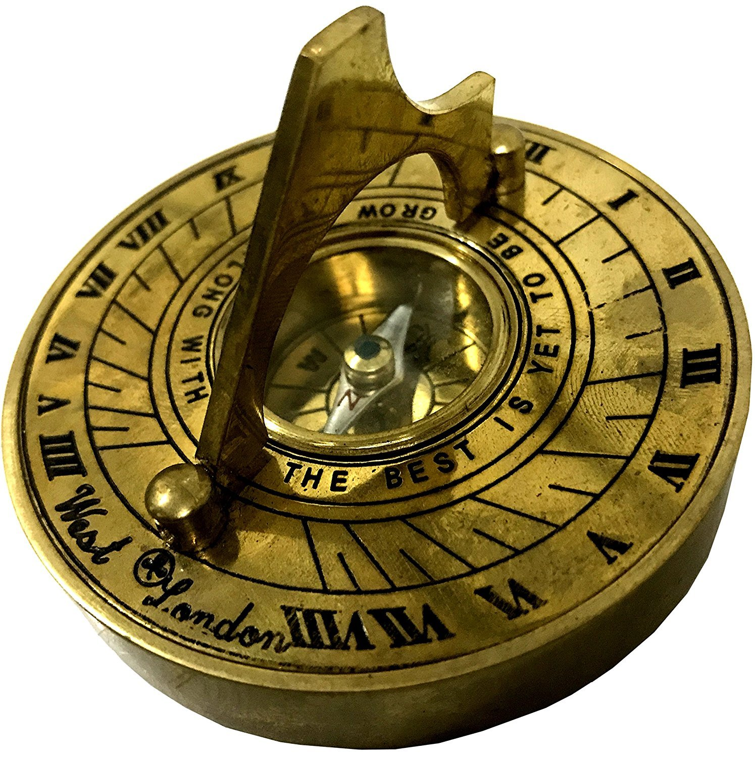 Global Art World Historical Islamic Nautical Vintage Collectible Brass Made Pocket Sundial