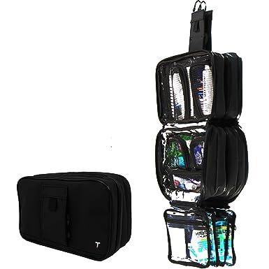 Amazon.com: Bolsa de aseo colgante compacta con 4 ventosas ...