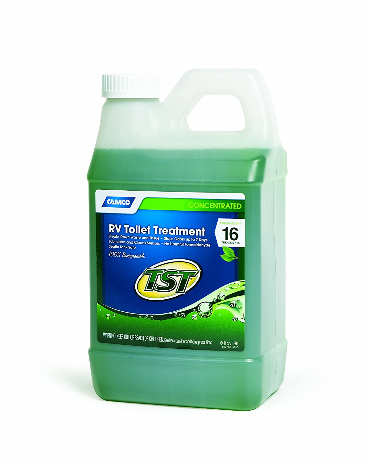 Camco TST Fresh Scent RV Toilet Treatment, Formaldehyde Free, Breaks Down  Waste And Tissue, Septic Tank Safe, Treats up to 16 - 40 Gallon Holding