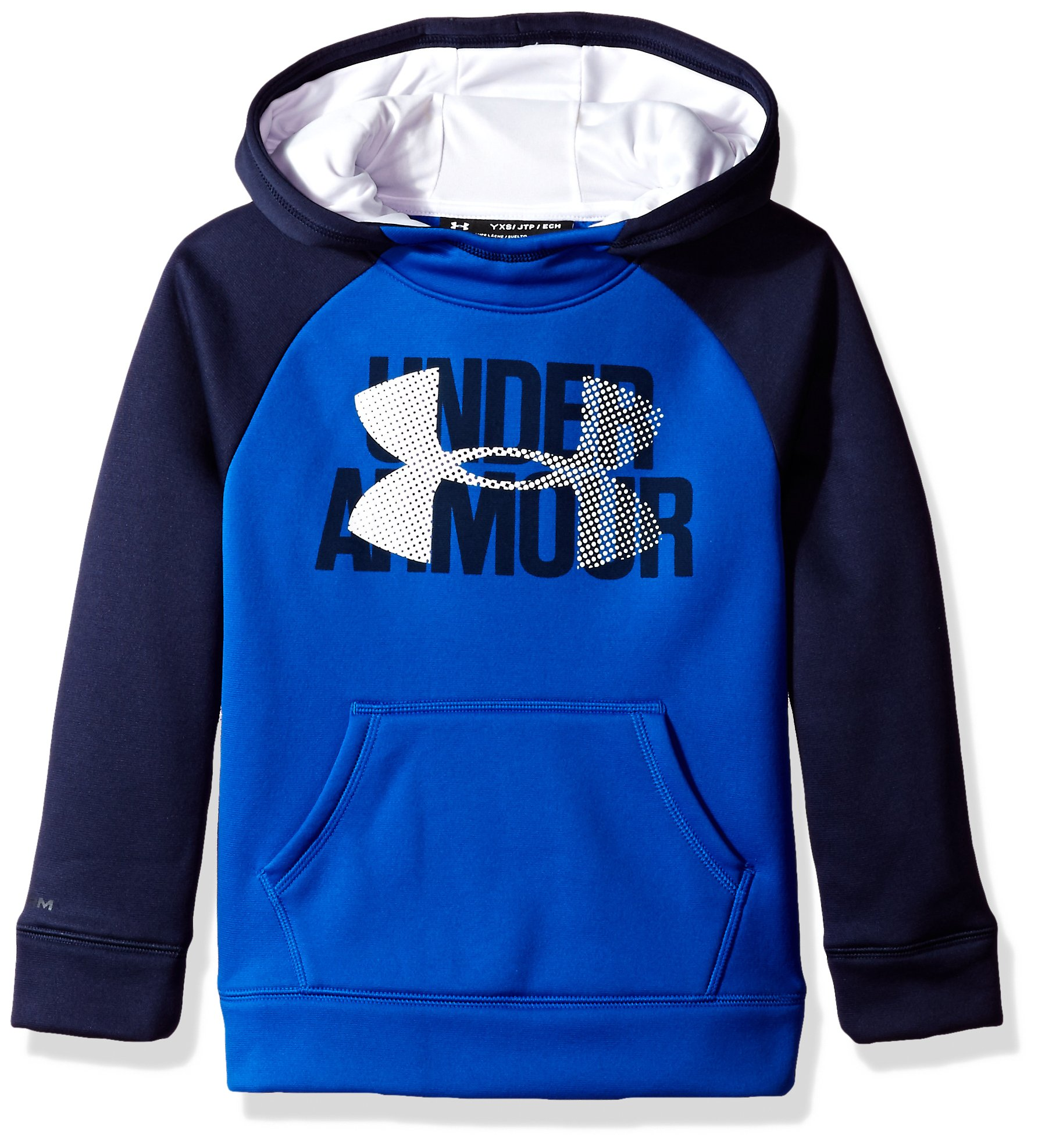 Under Armour Girls' Armour Fleece Big Logo Hoodie, Lapis Blue /White, Youth X-Small by Under Armour