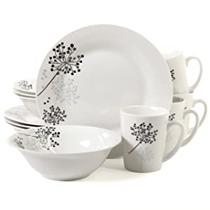 Gibson Home 101769.12RM Netherwood 12 Piece Dinnerware Set, White, 1