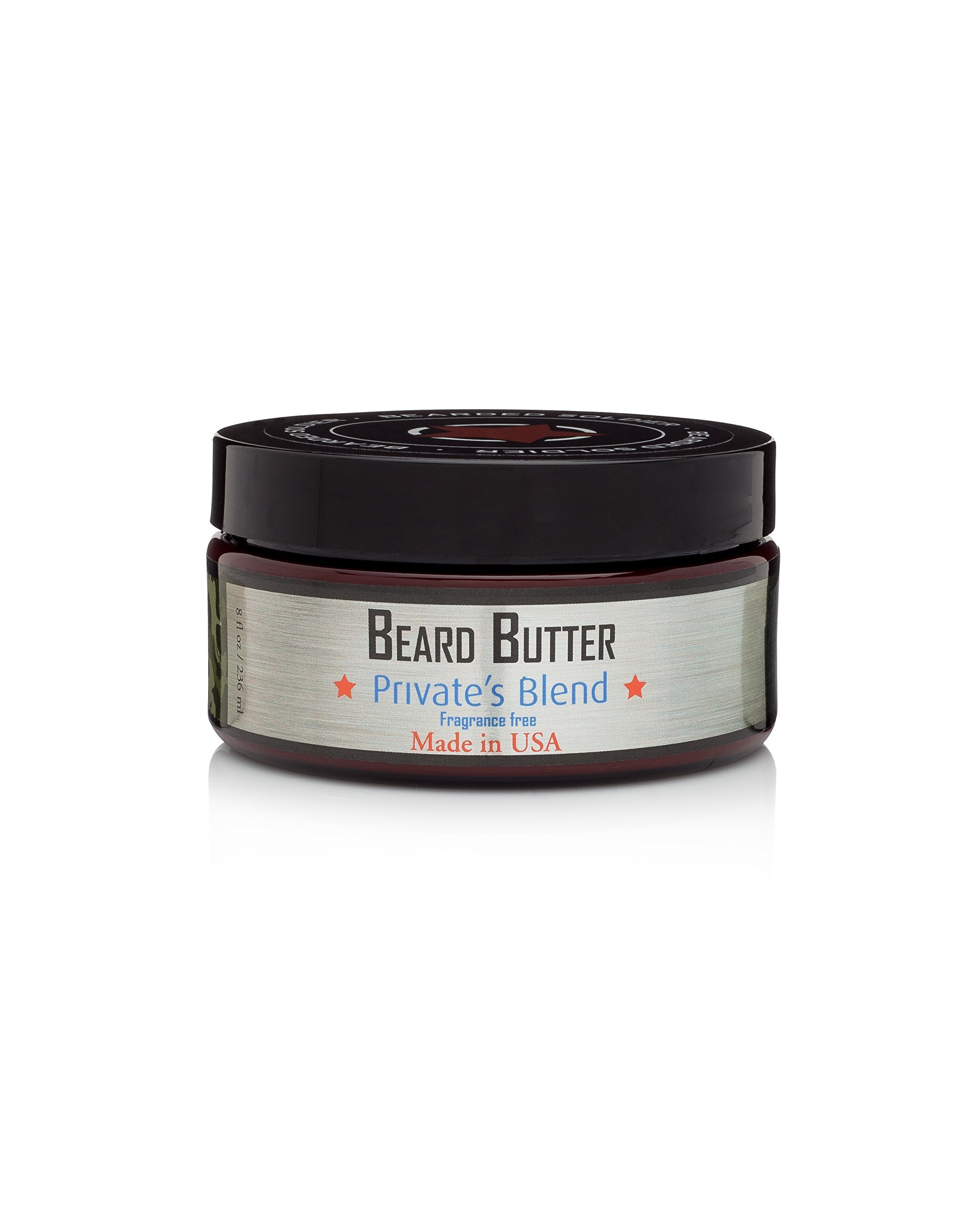 Bearded Soldier Beard Butter Private's Blend, 8 oz