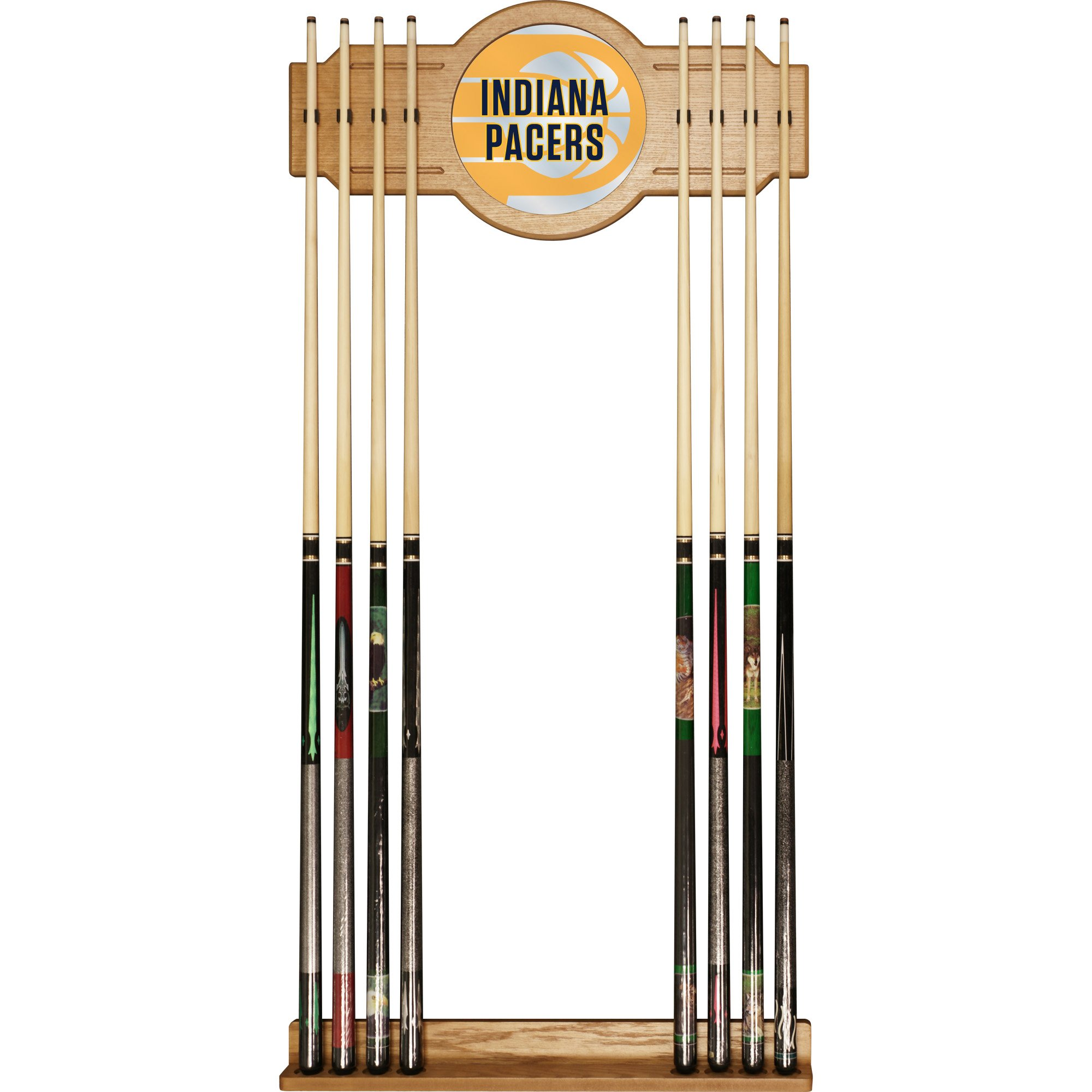 Trademark Gameroom NBA6000-IP2 NBA Cue Rack with Mirror - Fade - Indiana Pacers