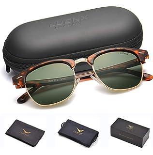 15f4e10b95 Mens Semi Rimless Sunglasses Polarized Womens  UV 400 Protection