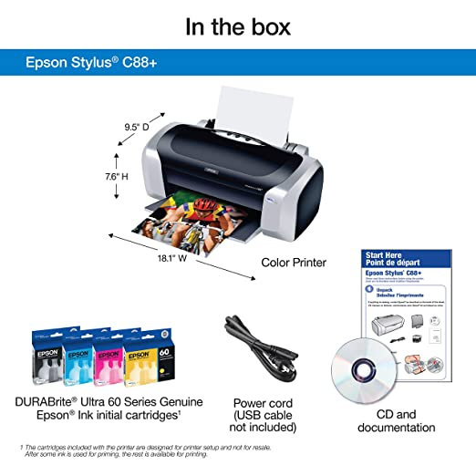 EPSON PRINTER C88 DRIVERS FOR WINDOWS XP