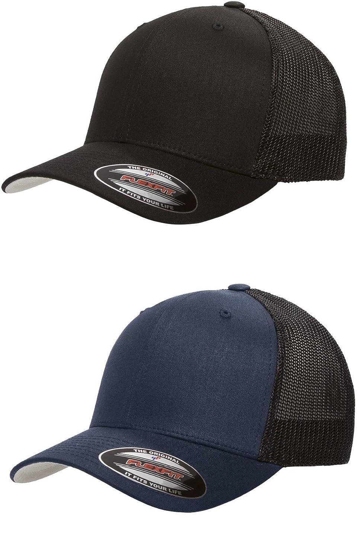 2-Pack Premium Flexfit 6511 Trucker Cap
