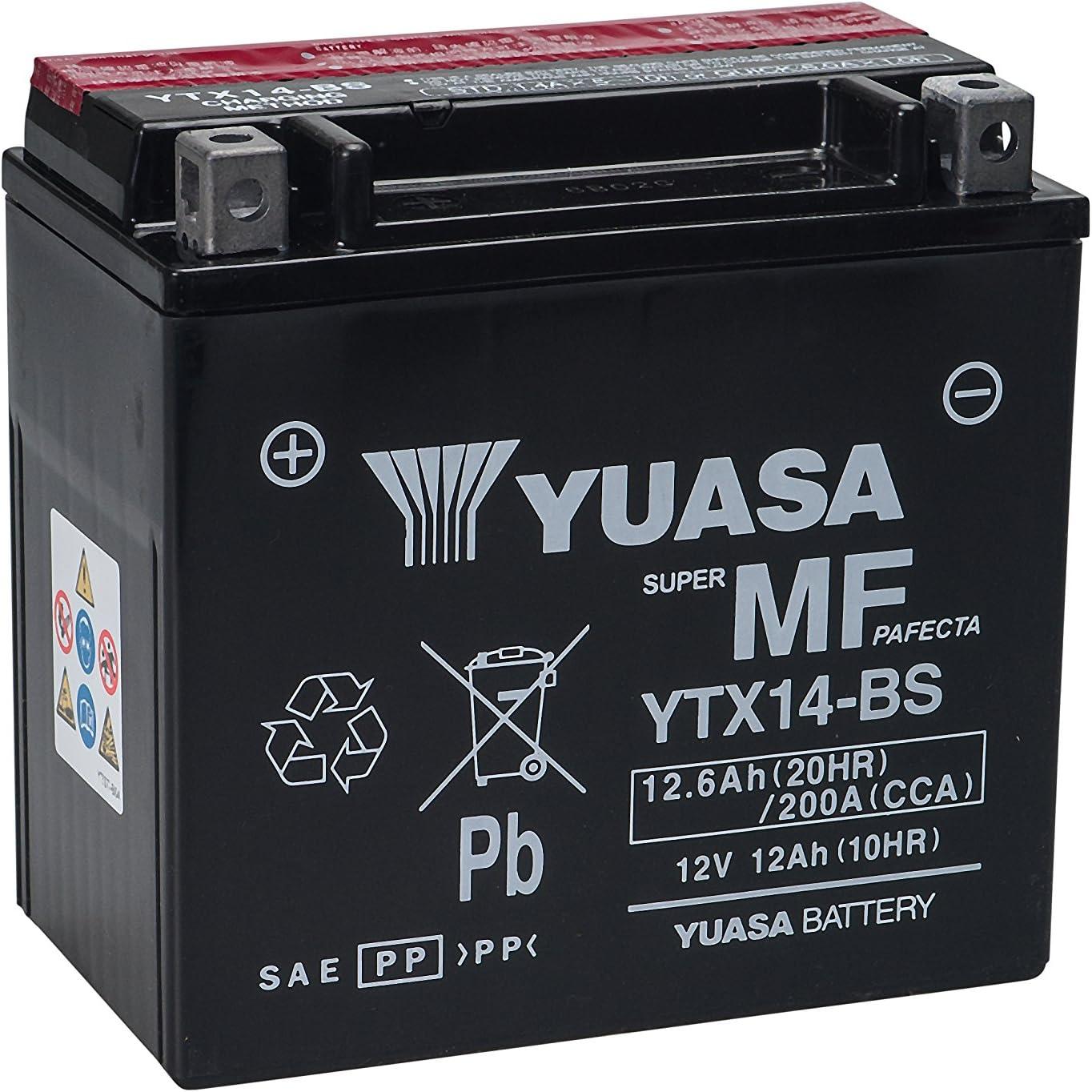R R 1200 S F 800 ST R inkl. 7,50 Euro Batteriepfand Wartungsfreie Batterie 12V 12AH f/ür Aprilia RSV 1000 K 1300 S GS BMW F 650 GS Buell, K 1200 R