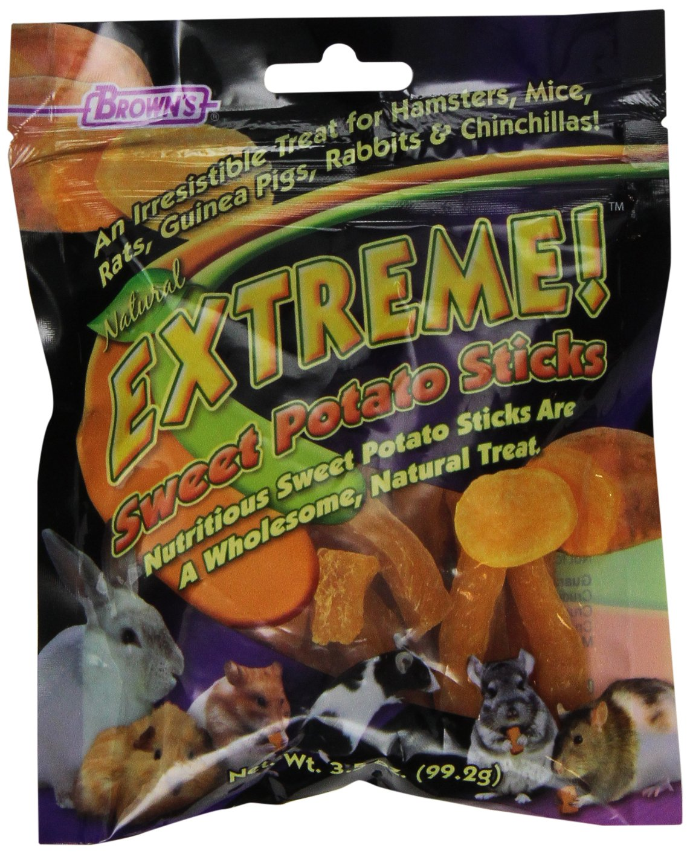 F.M.Brown'S 44510 Extreme Sweet Potato Sticks Small Animal Treat, 3.5-Ounce