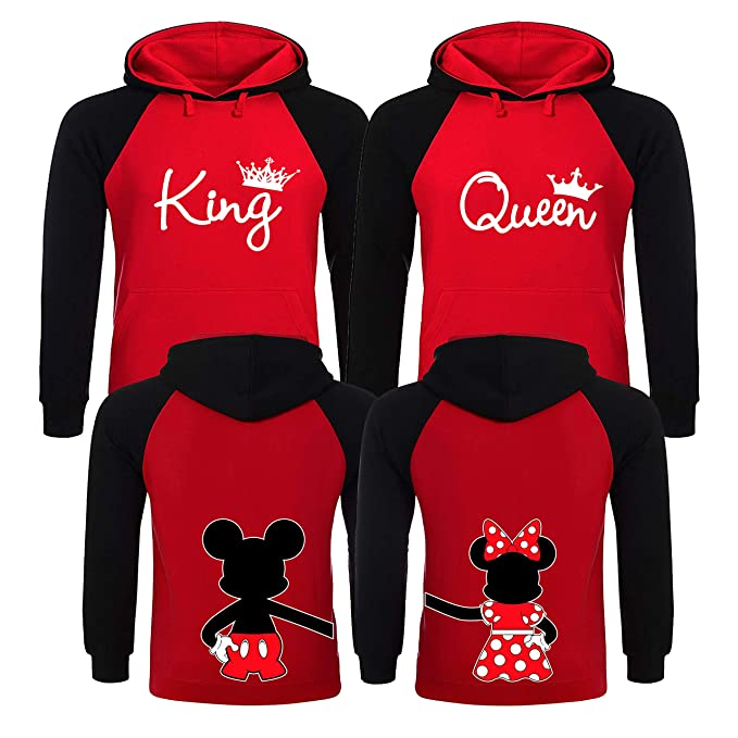 Christmas Sweaters For Couples.King And Queen Hoodies Couples Christmas Sweaters King And Queen Matching Hoodies For Couples