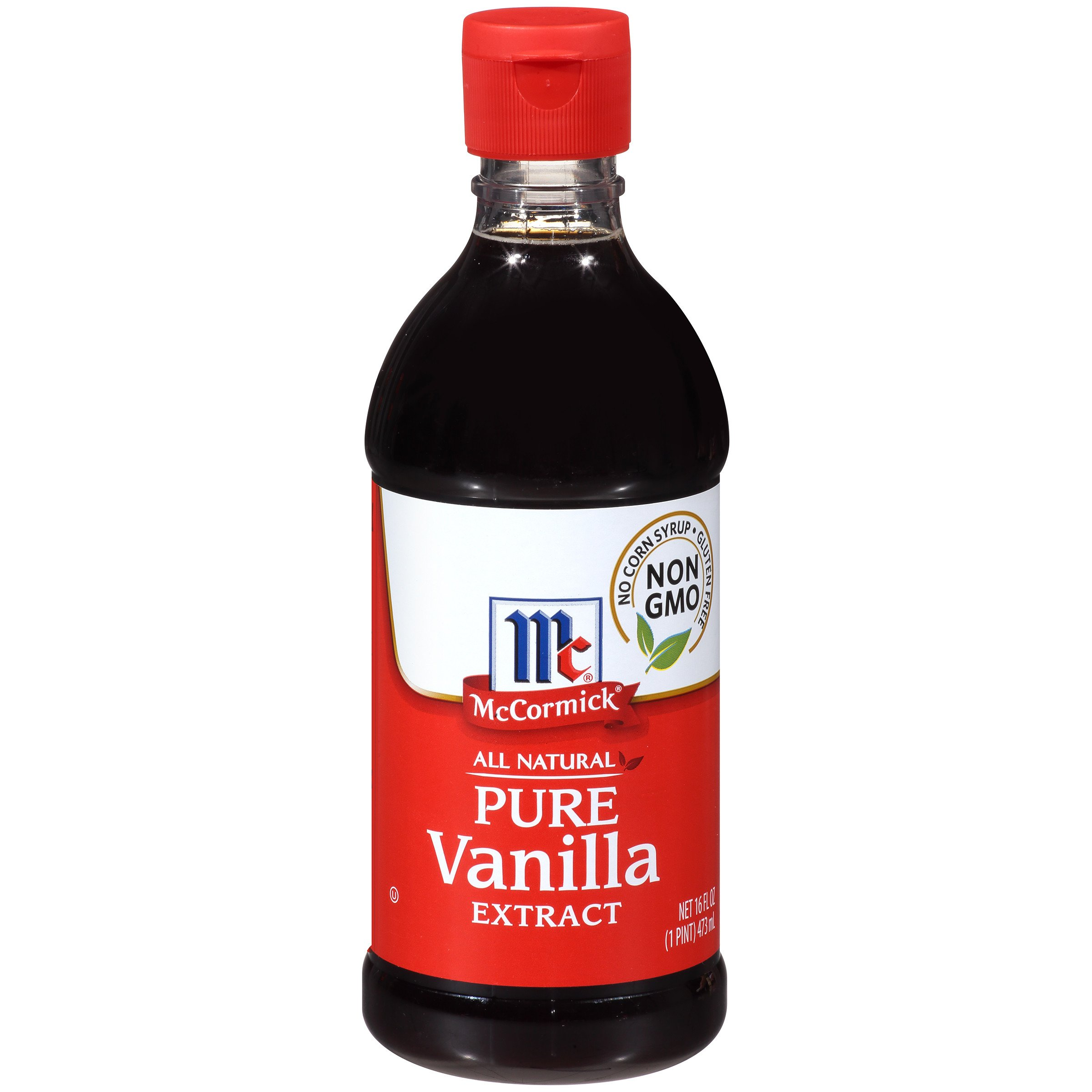 McCormick All Natural Pure Vanilla Extract, Gluten-Free Vanilla, 16 fl oz