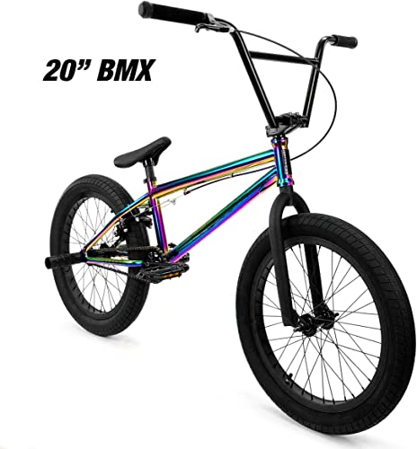Elite 20 18 BMX Bicycle Destro Model Freestyle Bike – 4 Piece Cr-MO Handlebar
