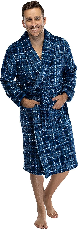 Mens Wrangler Printed Cozy Plush Robe