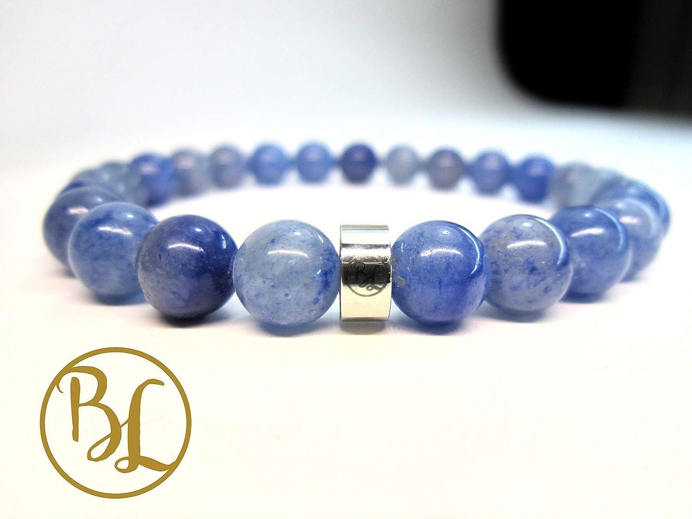 third eye bracelet Light blue apatite bracelet Throat chakra bracelet Genuine gemstone and gold-filled bracelet Yoga gift for women.