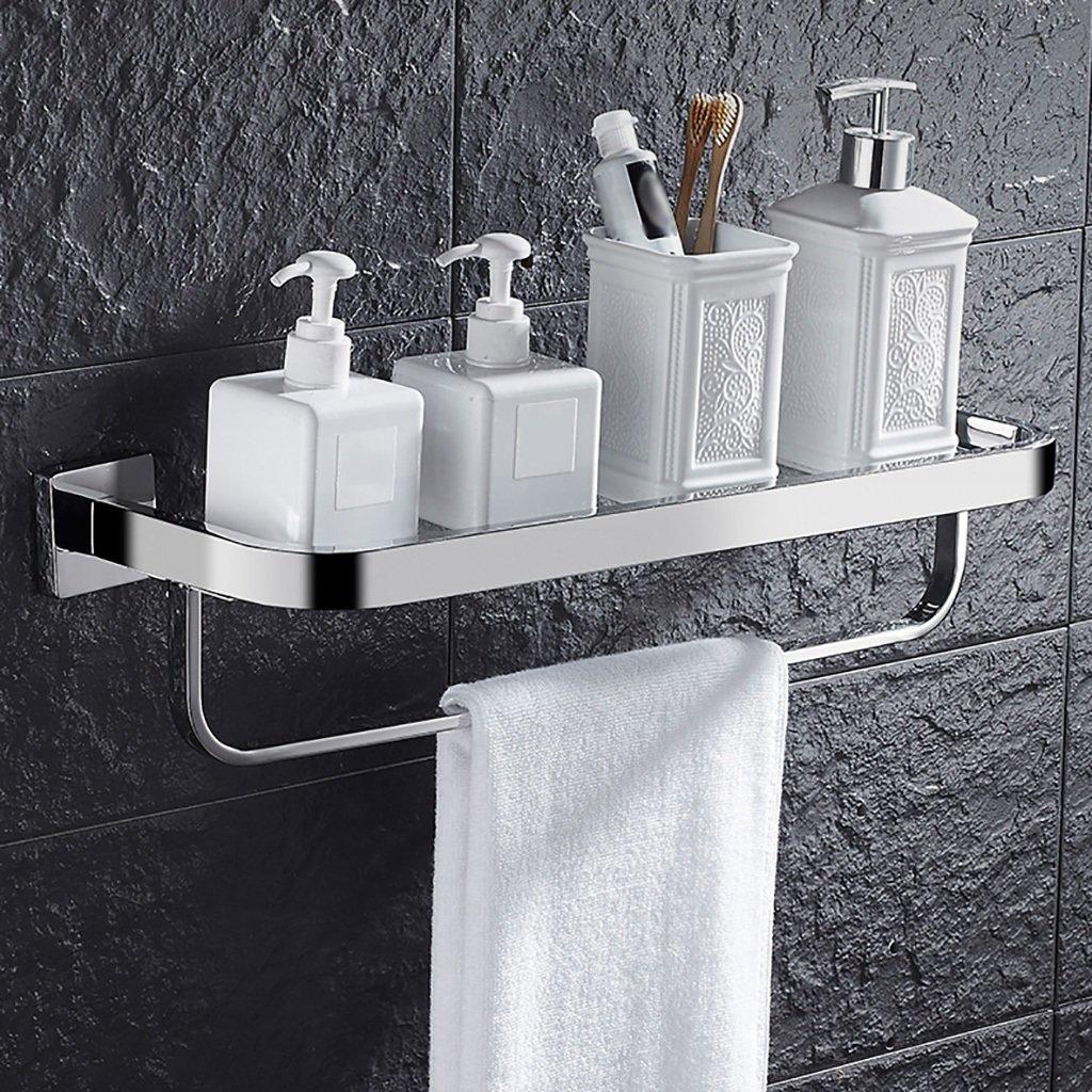 シェルフ304ステンレス鋼ガラス壁掛け浴室化粧ラックタオルラックミラーフロントフレーム収納ラック タオル棚壁取り付け (サイズ さいず : 30.5cm) B07F1HF73G 30.5cm 30.5cm