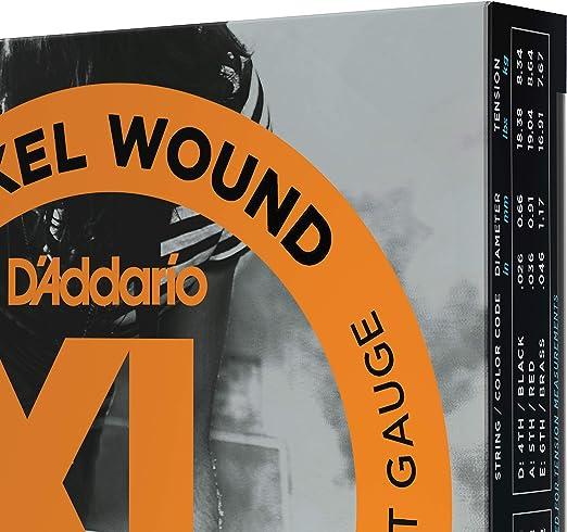 DAddario EXL110-3D - Juego de cuerdas para guitarra eléctrica de ...