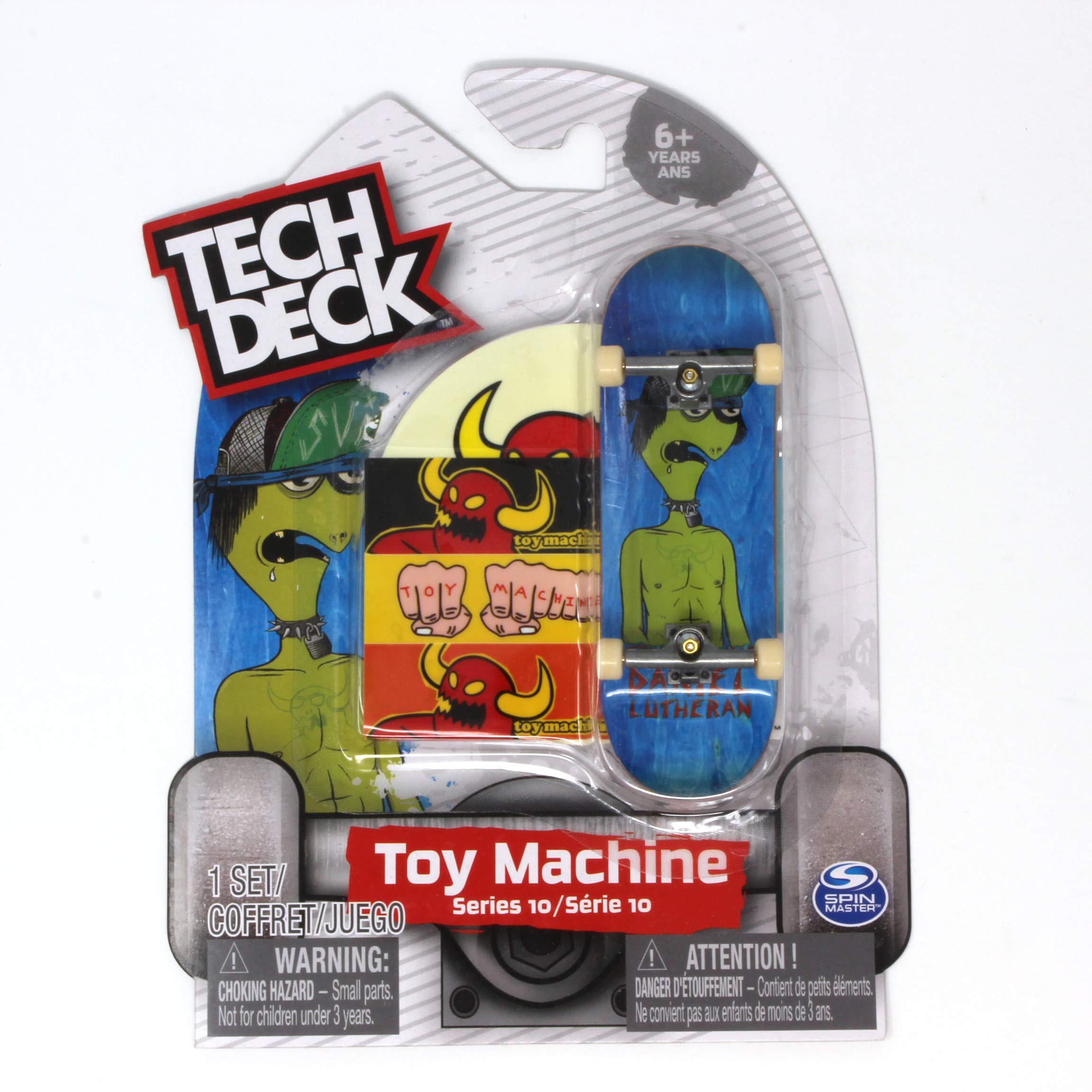 Mini Fingerboards Toy Machine Skateboards Rare Series 10 Daniel Lutheran Suicidal Turtleboy Complete Deck by Mini Fingerboards