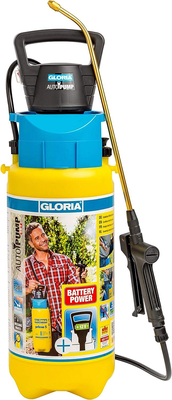 Gloria AutoPump Set Bomba eléctrica 5 litros, Amarillo