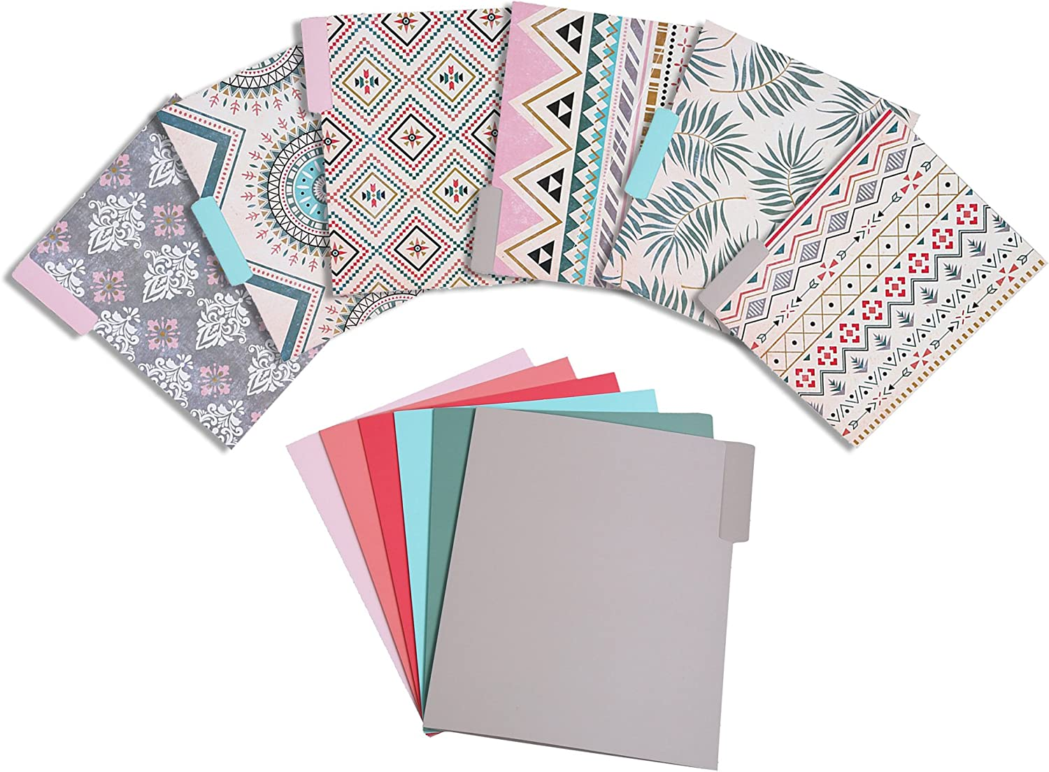 Decorative File Folders, Letter Size (9.5 x 11.5 in, 12 Pack)