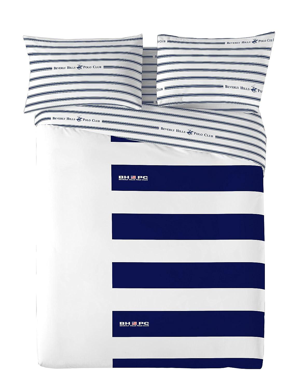Beverly Hills Polo Club Juego de Funda Nórdica, Azul/Blanco, Cama ...