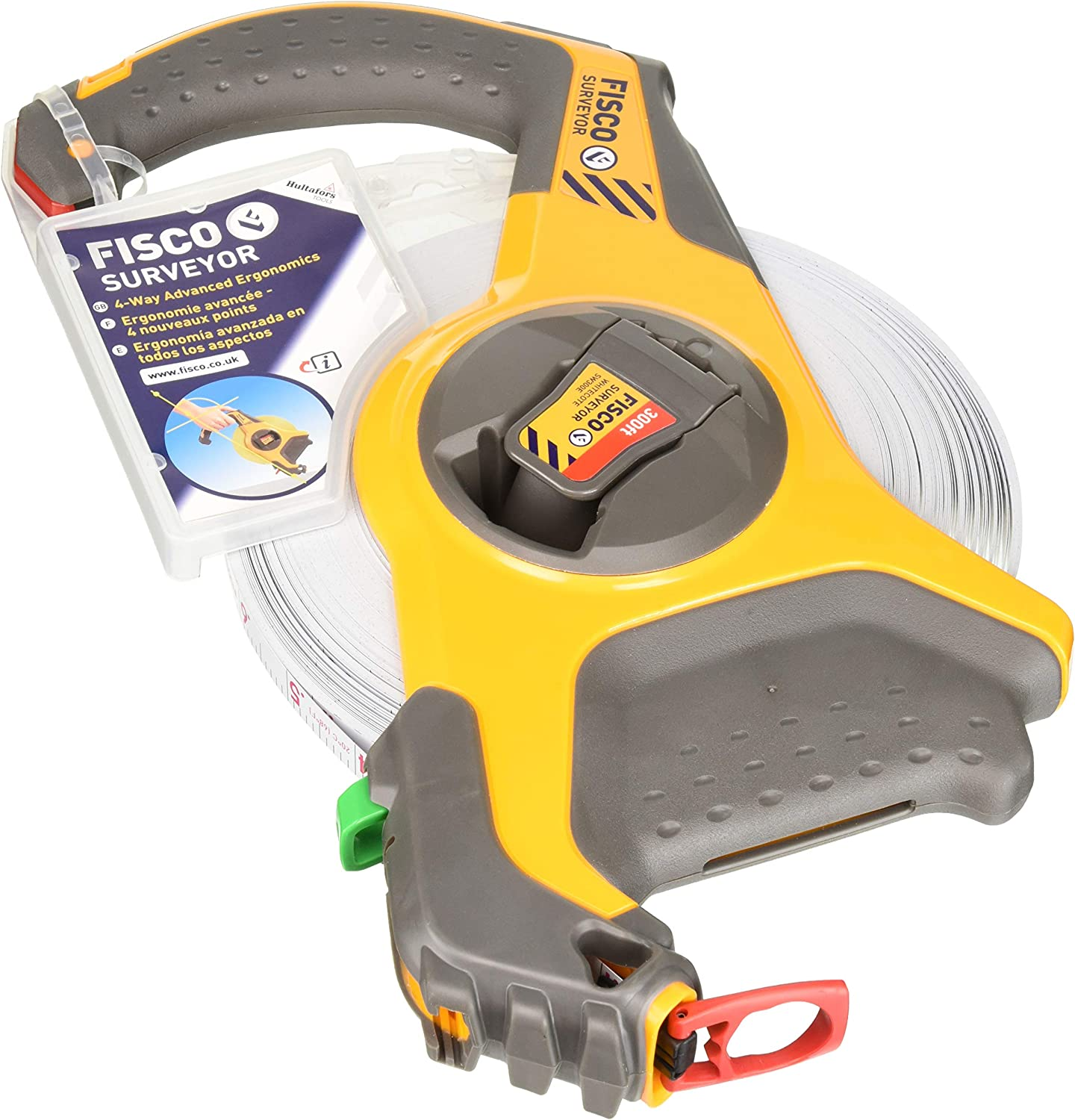 Fisco Tools SW300E Surveyor-Feets Steel Long Tape 1//2-Inch by 300-Feet Independants of America
