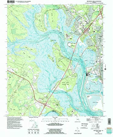 Amazon Com Yellowmaps Brunswick West Ga Topo Map 1 24000 Scale