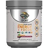 Garden of Life Sport Organic Pre Workout Energy Plus Focus Vegan Energy Powder, Sugar Free, BlackBerry Cherry, 8.1oz (231g) Powder Packaging May Vary