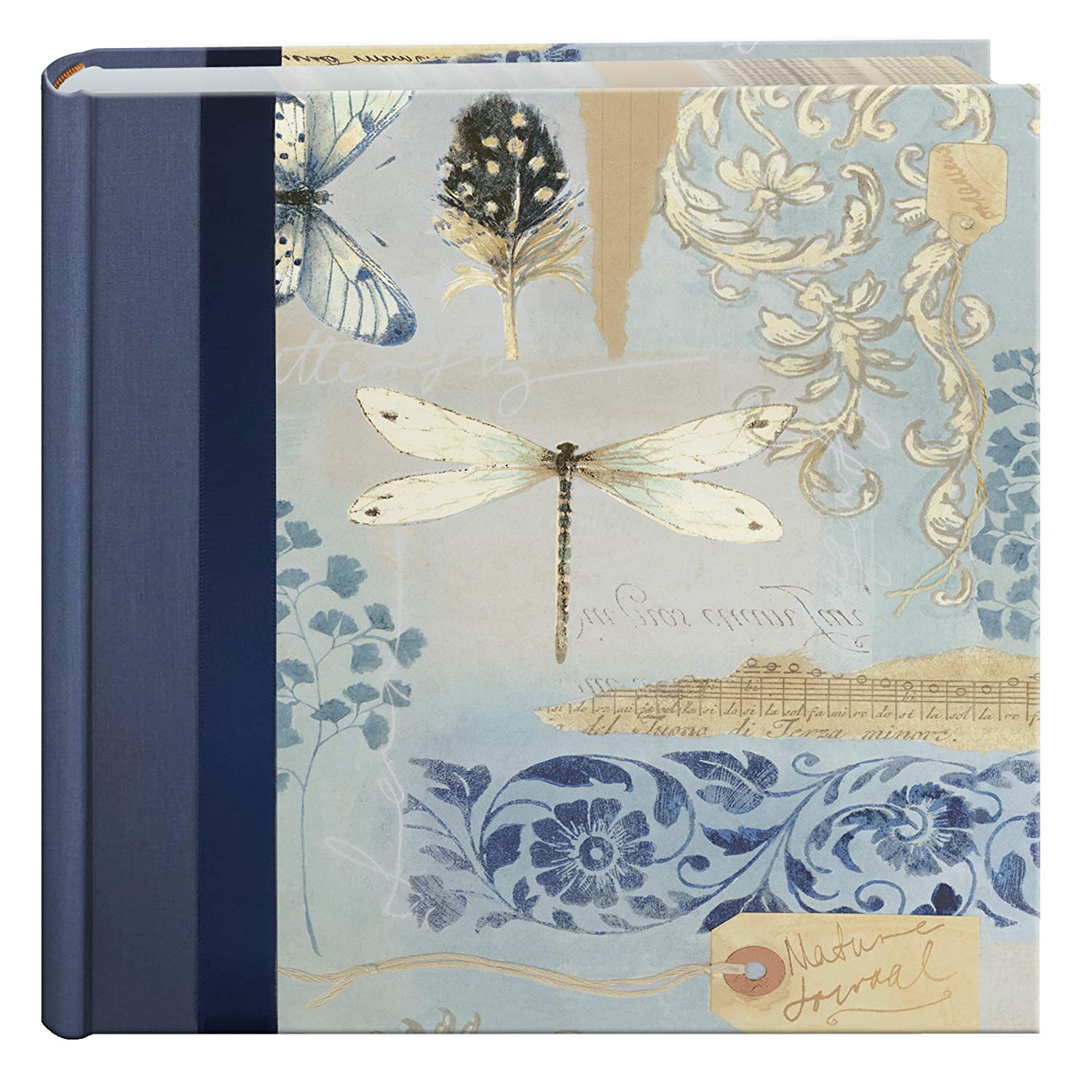 Pioneer Bella Fabric Ribbon Frame Bi-Directional Memo Frame Photo Album, Bella Fabric Covers, Holds 200 4x6' Photos, 2 Per Page Color: Sky. Holds 200 4x6 Photos DA-200D/SKY