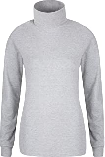 7944d74ce Mountain Warehouse Meribel Womens Roll Neck Top - 100% Combed Cotton  Thermal…