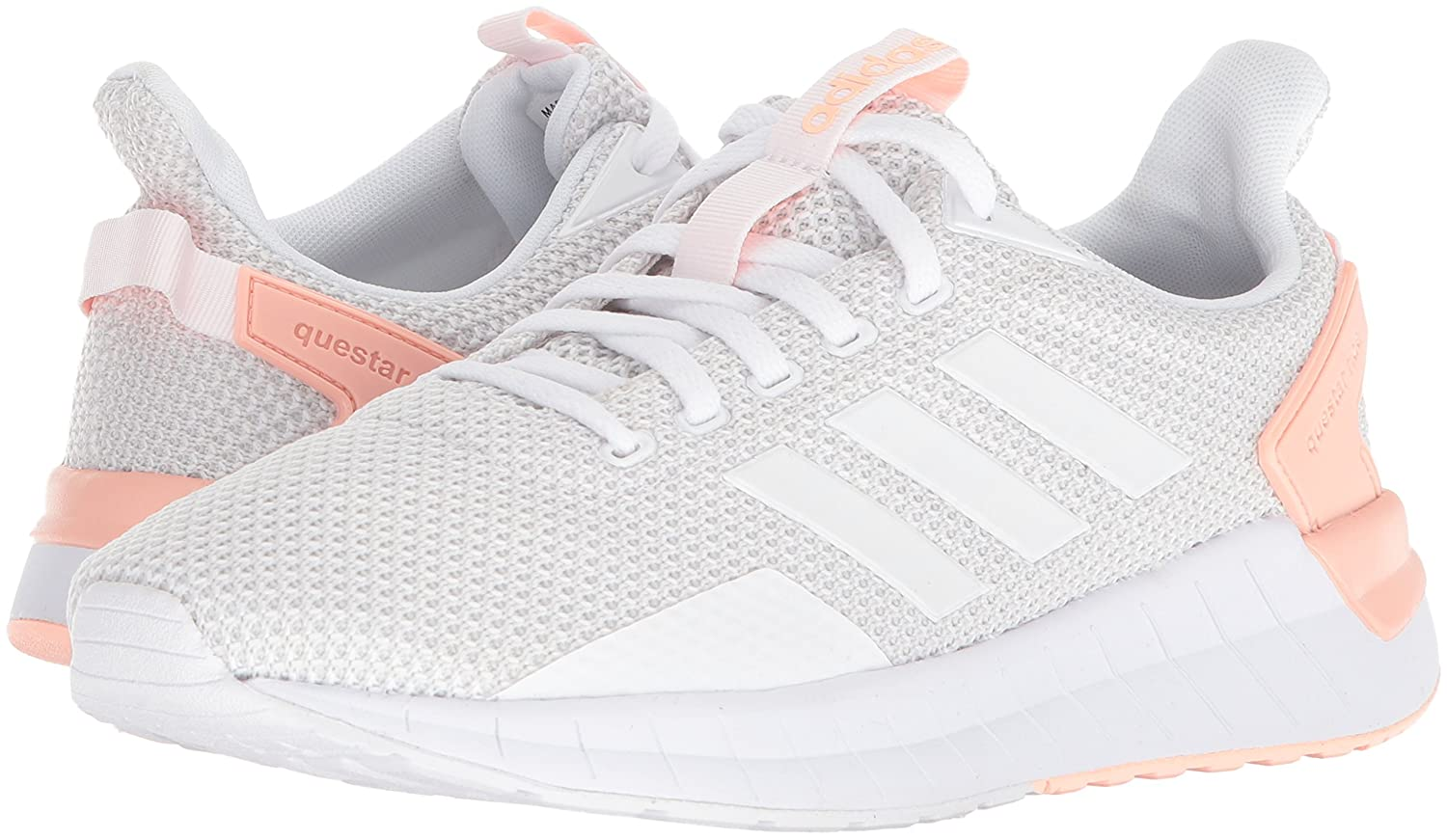 adidas Women's Questar Ride W Running Shoe B071S7L4V8 6 B(M) US|White/Grey One/Haze Coral