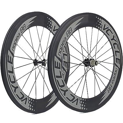 Carbon Road Bike Amazon Com >> Amazon Com Vcycle Nopea 700c 88mm Road Bike Carbon Wheel Set