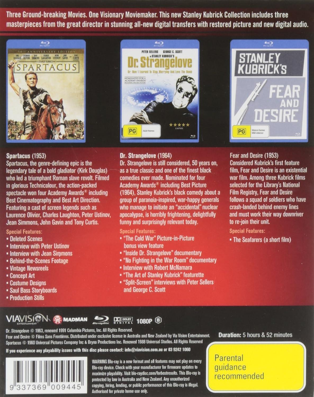 Stanley Kubrick Blu-Ray Collection Edizione: Australia 3 Blu-Ray Edizione: Australia Blu-ray: Amazon.es: Cine y Series TV