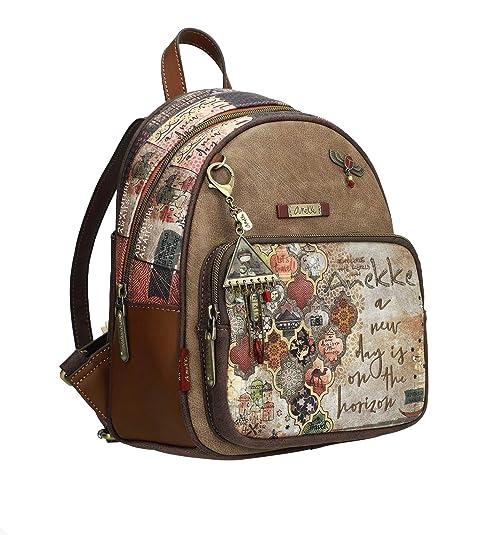 Bonita mochila de paseo de tamaño medio con estampado ...