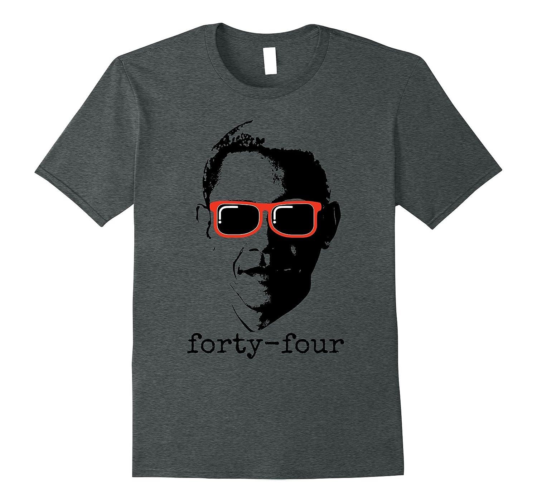 Obama 44 President T Shirt Heather-Xalozy