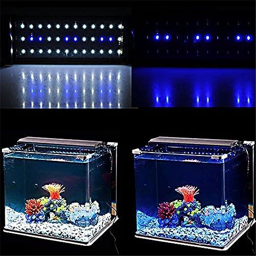 Cotek Lampara LED Azul y Blanca Colgante Acuario 30-48 cm