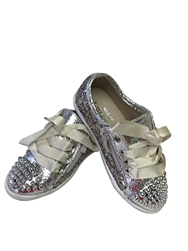 48e75a32de73 Chloe K New York Girls  Silver Glitter Sneaker - 27 M EU 10.5 M Little