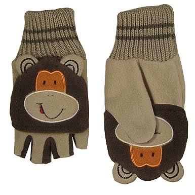 Gants enfant Hey Hey Twenty, en polaire avec rabat formant moufle - Marron  - 6 ans  Amazon.fr  Vêtements et accessoires 5f5fac218ab