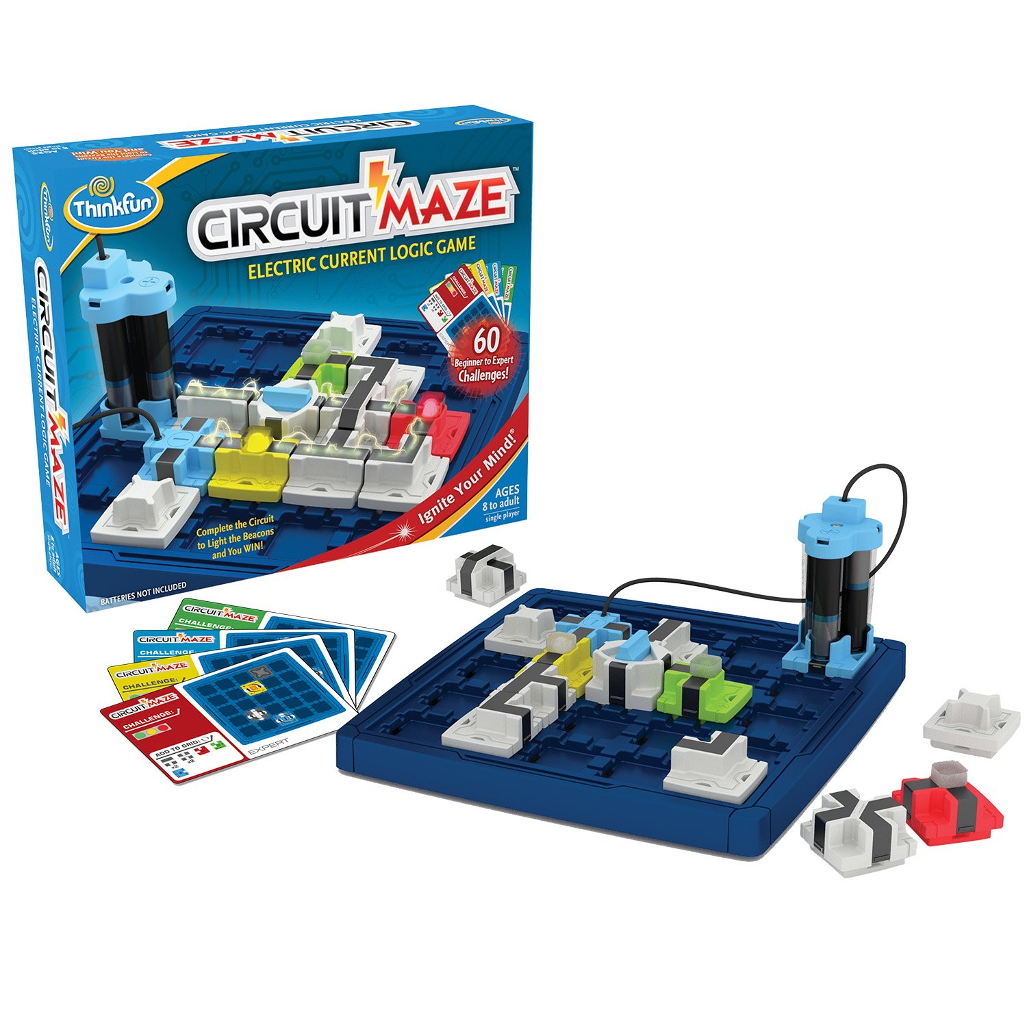 ThinkFun Circuit Maze Electric Current Logic Game and STEM Toy for Boys and Girls Age 8 and Up - Toy of the Year Finalist, Teaches Players about Circuitry through Fun Gameplay by Think Fun