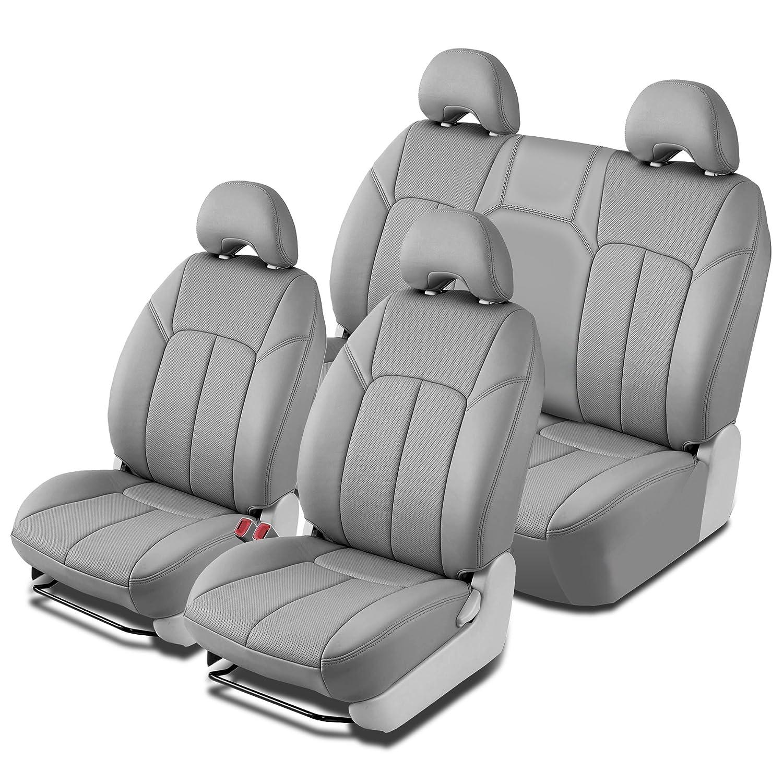 Clazzio 231011blkk Black Leather Front Row Seat Cover for Toyota Prius C